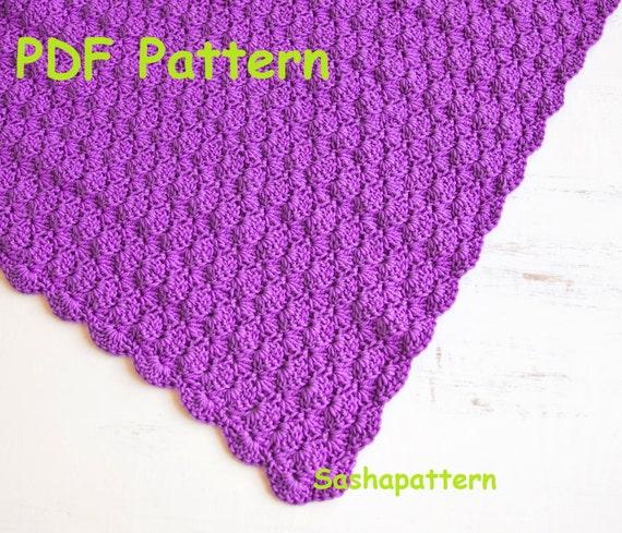 Crochet shell stitch baby blanket pattern Easy crochet for | Etsy