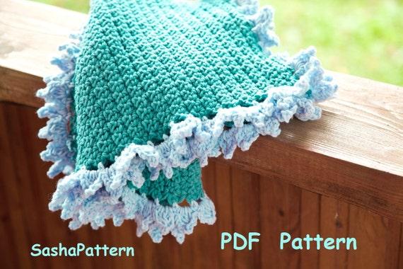 Crochet Baby Afghan With Ruffle Edging Crochet Ruffle Border Etsy