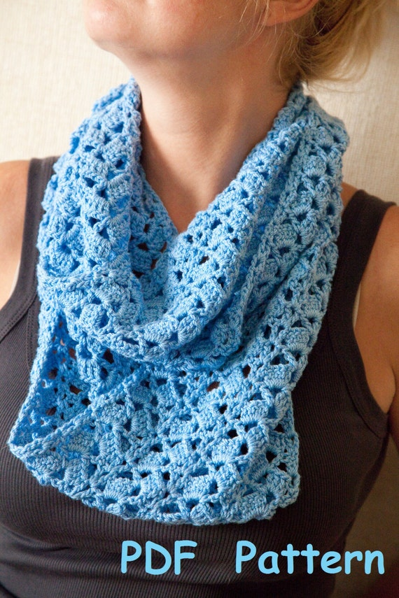 Crochet Infinity Scarf With Single Seam Easy Crochet Circle Etsy