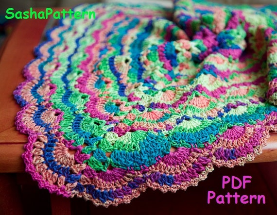 Lace Shell Stitch Baby Afghan Pattern Crochet Square Afghan Etsy
