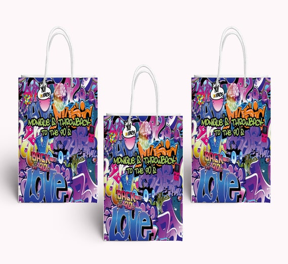 Gifts For Pre Wedding Bride: PRE-MADE Custom Party Favor Bag -Themed Gift Bags For