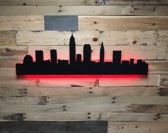 Cleveland City Skyline LED Sign
