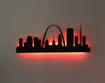 St. Louis City Skyline LED Sign