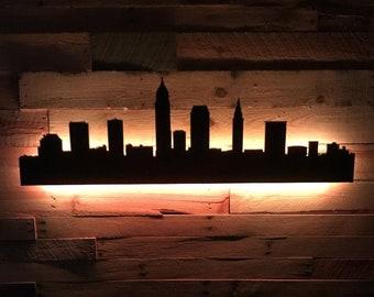 Cleveland LED City Skyline