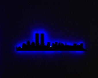 New York City Twin Towers City Skyline LED Sign