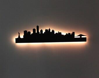 New York City Skyline LED Sign