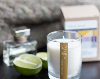 A Late Night (White Musk & Lime) 7oz soy candle // campy candles / gifts for him / housewarming // vegan candle / Abercrombie / sexy candle
