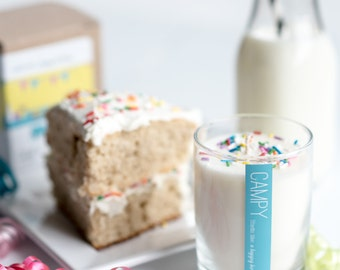 It's Your Birthday (Vanilla Cream) 7oz soy candle / campy candles / gifts for her / birthday candle / candle with sprinkles / birthday cake