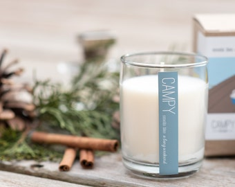 A Long Weekend (Cedar & Vanilla) 7oz soy candle / campy candles / cottage gift / hostess gift idea / vegan candle / fresh scent / fragrance