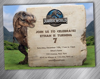 Jurassic World Birthday Invitation Party