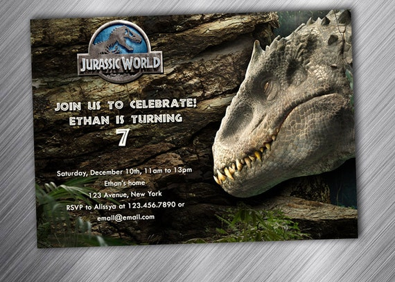 Jurassic World Birthday Party Invitation