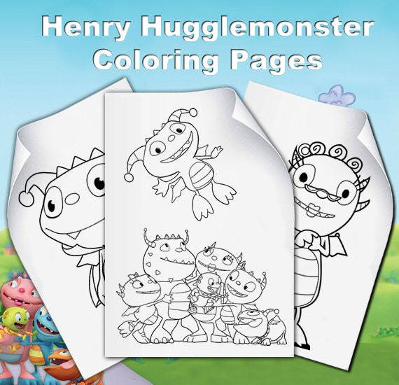 Items Similar To Henry Hugglemonster Coloring Pages On Etsy