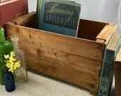 Vintage Primitive Handmade Cedar Strip Wooden Box Weathered Repurposed Garden Planter Indoor Window Box House Plant Crate