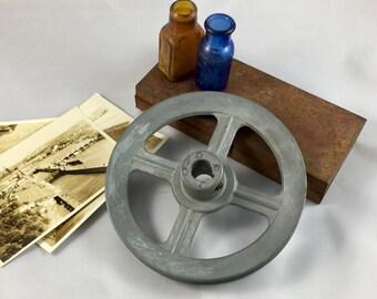 Vintage Pulley Adjustable V-Belt DIY Build Your Own Steampunk Sculpture Metalwork