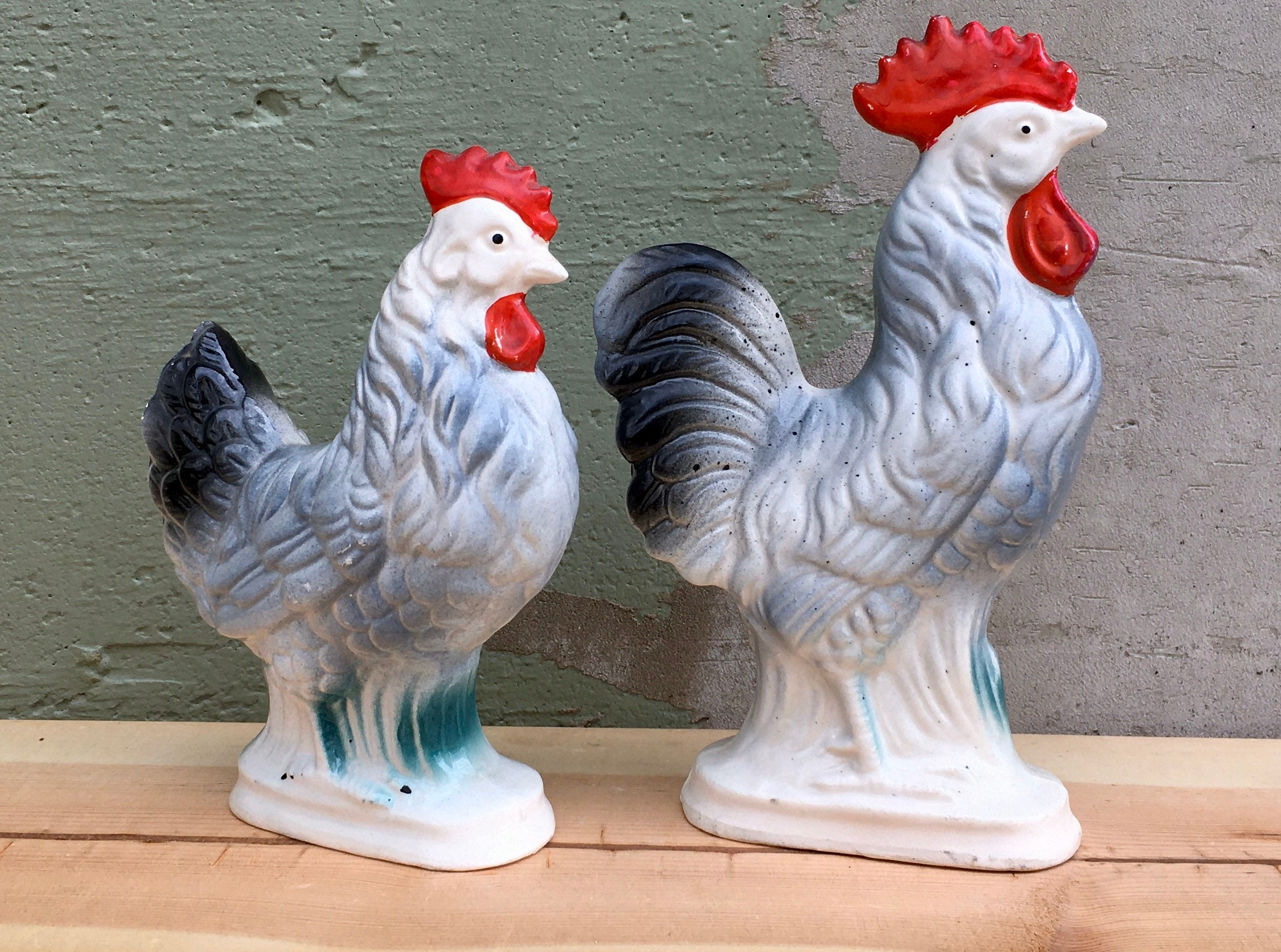 Vintage Ceramic ROOSTER FIGURINECountry Kitchen