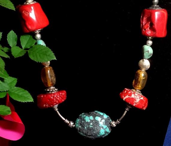 Tibetan Bead Cornucopia Necklace 22