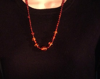 "23"" Vintage Baltic Amber Necklace. Graduated 6, 8, 10 and 14mm. Polished Round Beads. free US ship 165.00"