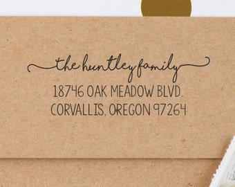 Best Seller Script Address Stamp / Family Name Stamp / Self Inking Custom Stamp / Personalized Address Stamp / Invitation & Wedding Stamp!!!
