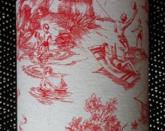 Holiday print fabric Lampshade