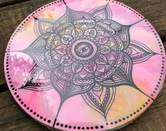 Black and pink mandala