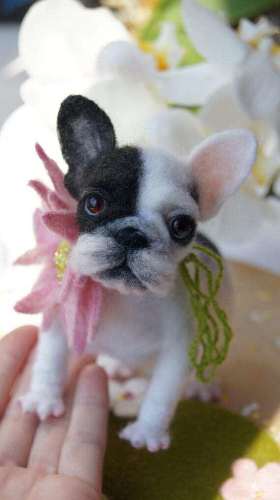 Französische Bulldogge/Custom gefilzt Portrait/gefilzt Tier   Etsy