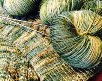 Super Sock - Merino OR BFL - Juniper, sock yarn, superwash 100g, fingering weight