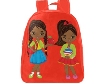 African American Black Girls School Books Design School Daycare Backpack  Toddler Size Free USA   International Shipping 8831b482f329a
