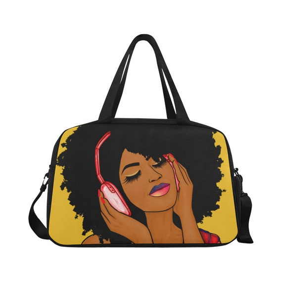 b5be7b79e80a Listening To Music Afro African American Black Woman Carry On