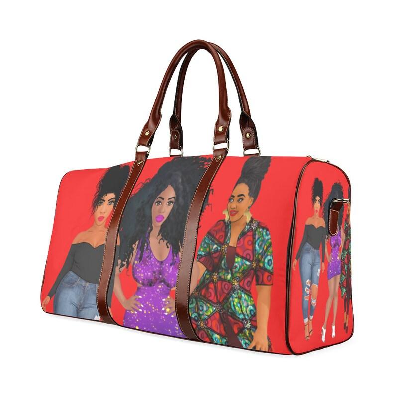 4f0153df05 African American Curvy Women Ethnic Ladies Travel Purse Duffle