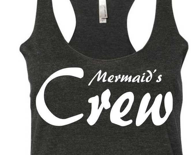 Nautical Shirts , Nautical Bridesmaid  , Mermaid Crew Tank Tops, Mermaid shirts , ladies mermaid tanks , bachelorette shirts , beach wedding