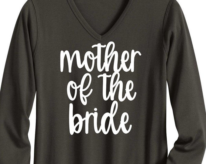 Long sleeve bridesmaid shirts - mother of the bride shirt - mother of the groom t shirts - getting ready t-shirts - bridal party shirts