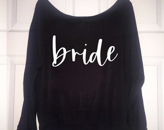 Off the shoulder long sleeve shirts - Bridesmaid Shirt - Babes , bride t shirts - Bachelorette party shirt - cute bridal party tees tops