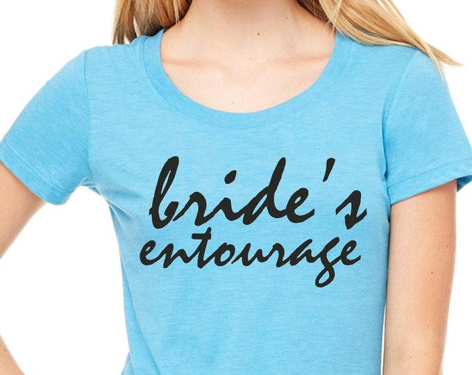 Bride's Entourage Tank Tops /  Bridesmaid Bride Shirts / Bridesmaid gift shirts / Bridesmaid t-shirts ideas / Bridesmaid party shirts