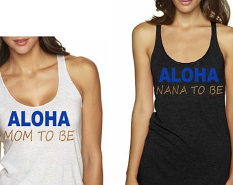 Maternity shirts , Aloha baby shower , luau beach nautical baby shower , cute mom to be shirts, baby shower tees, aloha mom to be shirt.