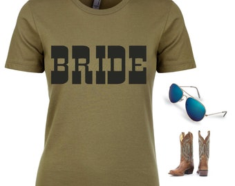 Bachelorette Party Shirts / Country Bride Shirt / Rodeo Bride t-shirt / Rodeo Bachelorette / Southern Bash T-shirt / NOLA bachelorette