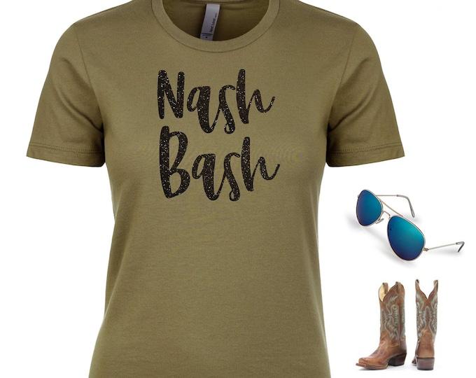 Nash Bash shirt / Nashville t-shirts / Scoop neck bridesmaid shirts / Bachelorette party shirts / Personalized bachelorette t-shirt women