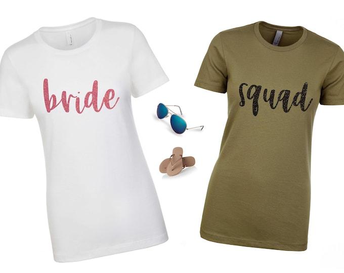 Bridesmaid proposal , Bridal Party t-shirt , Bridesmaid gift , Maid of Honor Shirt , Squad Bachelorette Shirts ,  Bachelorette Party