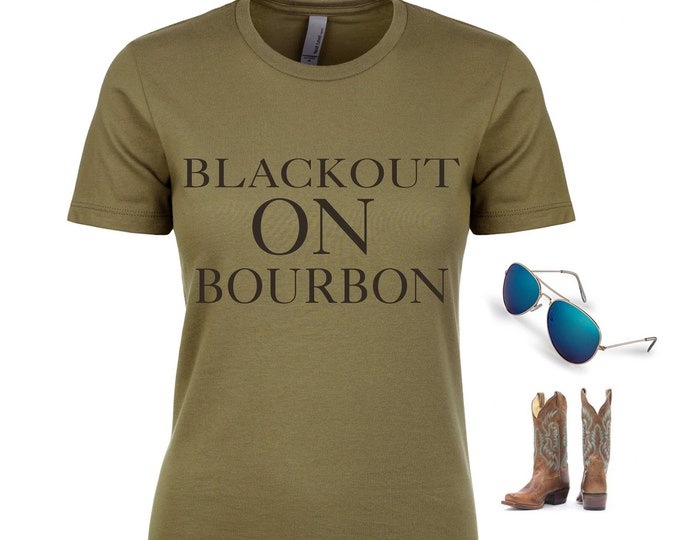 Bachelorette Party Shirts / Blackout on Bourbon Street Shirt / Country Bachelorette Shirt /  New Orleans T-Shirt / NOLA Girls Trip tops