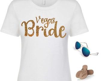Vegas Bride shirt - Las Vegas t-shirt - cute las vegas bachelorette shirt - bachelorette party t-shirts - bridesmaid shirts - bridal party