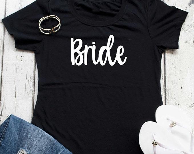 Bride t-shirt, Bride fitted scoop neck shirt , Bachelorette party t-shirts , Wedding party shirt , Bride gift , Bridal Shower gifts, wedding