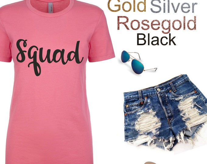 Squad SHIRT / Bachelorette Party Shirts / CustomBachelorette T-shirt / bridesmaid shirts / Bachelorette Top / Cute Bridesmaid Shirts
