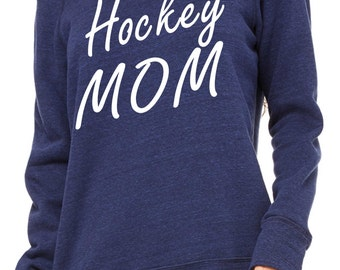 Hockey Mom Sweatshirt. Personalized Hockey Mom shirt- Sports mom Shirt- Comfy slouchy Oversized pullover, off the shoulder, slouchy Shirts.
