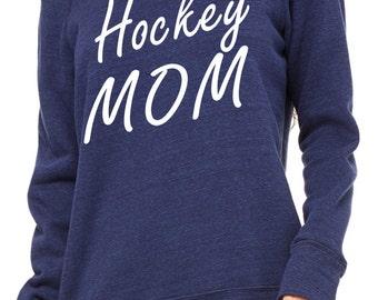 Hockey Mom Sweatshirt. Personalized Hockey Mom shirt- Sports mom Shirt- Comfy slouchy Oversized pullover, off the shoulder, slouchy Shirts.