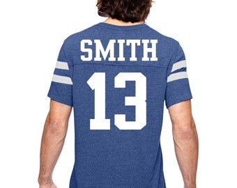 unisex football jersey t-shirt . personalized football shirt royal blue, light gray, red, navy blue, small, medium, large, XL, XXL, XXXL.