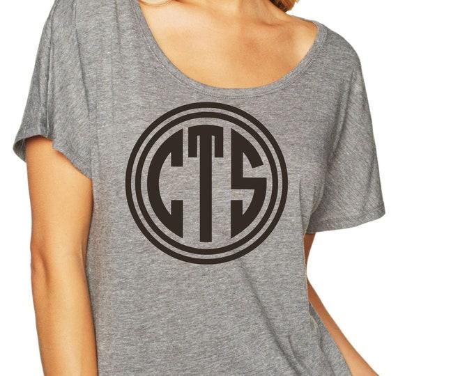 Monogrammed Shirt , Womens Mongram tshirt , Three letter monogram vinyl shirt, bridesmaid custom monogram tees , bridesmaid gift ideas