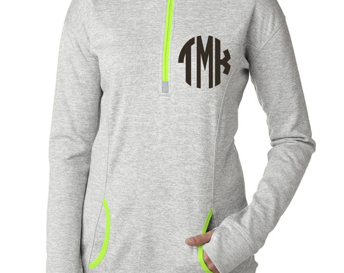 Monogrammed Gift Ideas . Christmas gifts for daughter , sister , friends. Ladies Thumb hole shirt . Long sleeve, fall sweatshirts.