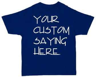 Mens CUSTOM Short Sleeve Crew neck Shirt- Custom Shirts- T-Shirt- custom shirt printing- NAVY BLUE shirt personalized.