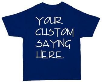 Mens CUSTOM Short Sleeve Crew neck Shirt- Custom Shirts- T-Shirt- custom shirt printing- NAVY BLUE shirt personalized.