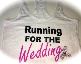 Personalized Running For the Wedding Tank Top. Bride to Be burnout Tank Top. Bride workout Tank Top. Future Mrs Workout Tank Top. Gift.