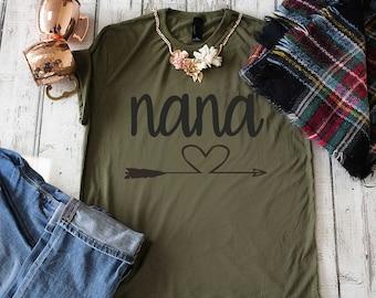 Nana shirt - Gift for Nana - Cute nana shirt with arrows - Nana t-shirt - grandma shirts - gifts for grandma - Cute nana gifts - nana tees